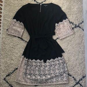 Dresses & Skirts - Gianni Bini black dress with crochet lace trim